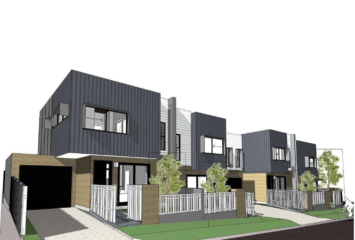 Four Terrace Style Townhouses